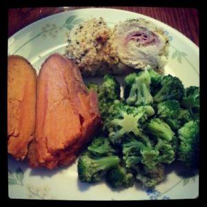 chicken cordon bleu dinner
